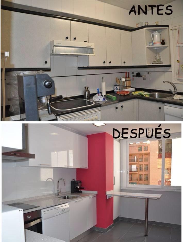 Antes y despu s de la reforma de ba os y cocinas for Banos y cocinas
