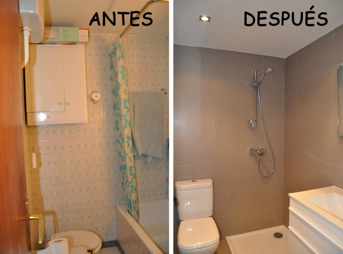 Reformar Azulejos Baño Sin Obras:Algunos ejemplos de baños y cocinas antes y después de reformarlos