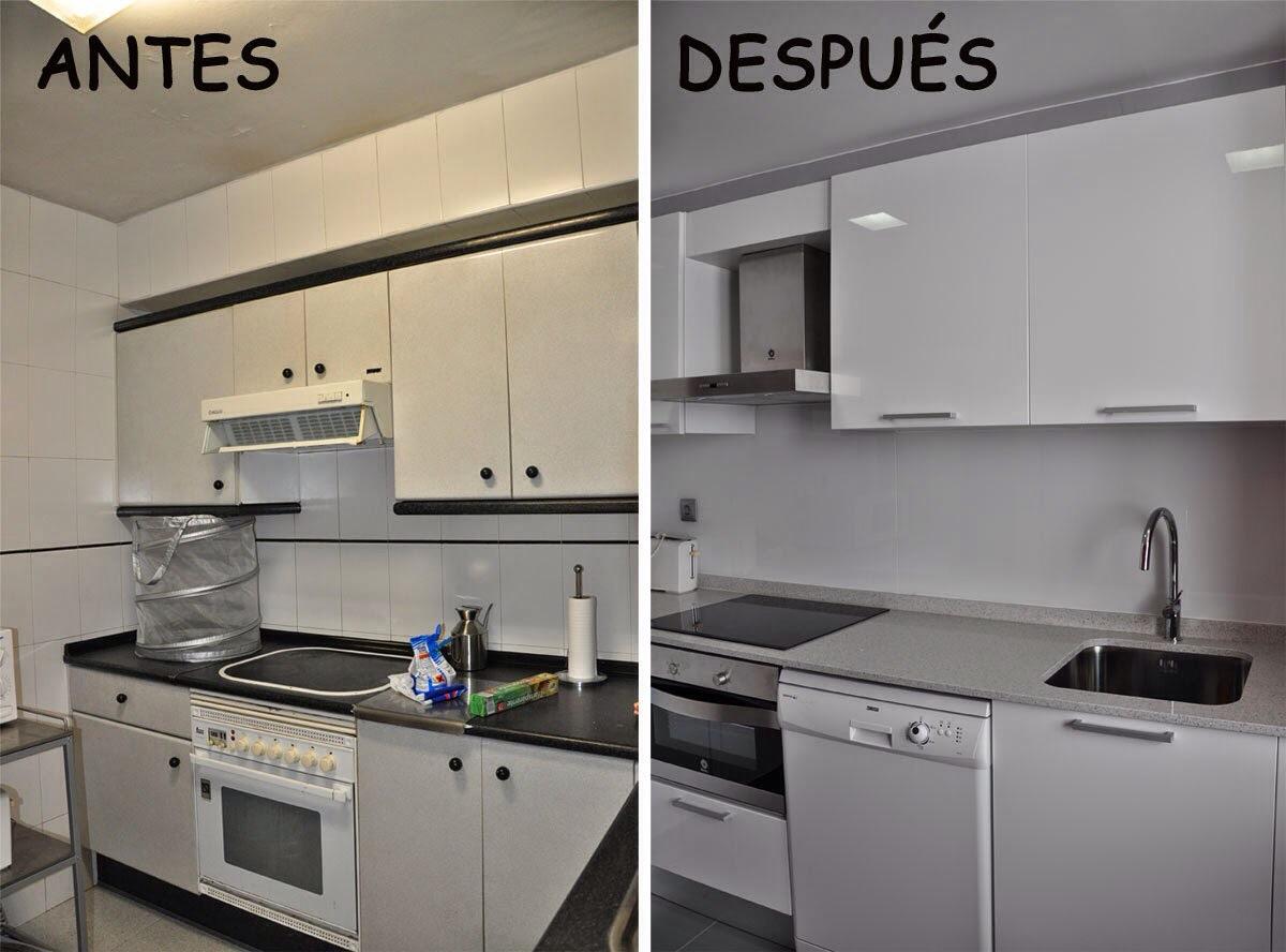 Reformaantesydespues reformas en donostia p gina 4 - Pintar azulejos cocina antes y despues ...