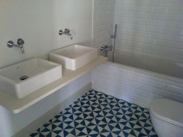 Baldosas Hidráulicas Baño:Baldosa hidráulica para el suelo del baño