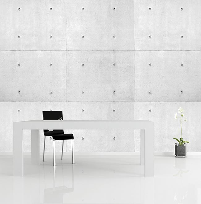 Papel pintado boques de cemento - Villalba Interiorismo