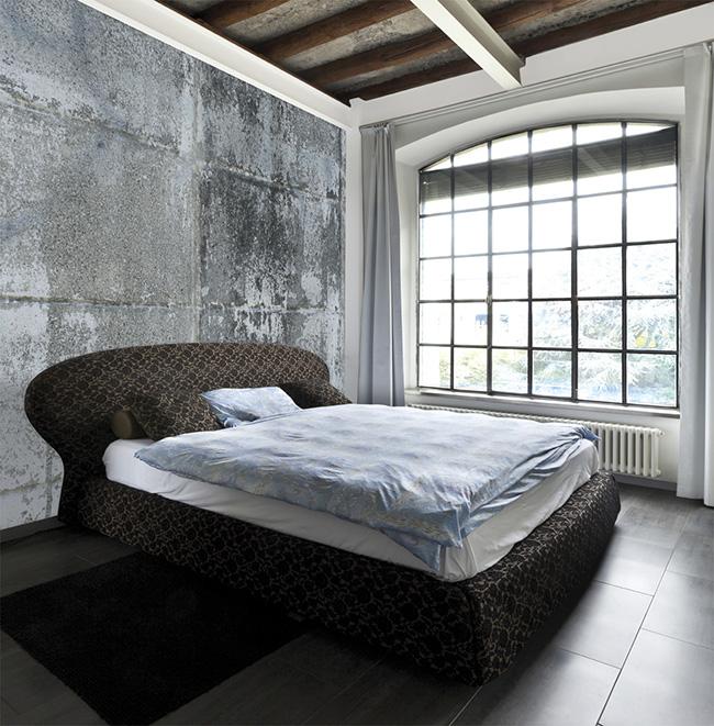 Papel pintado hormigón viejo - Villalba Interiorismo