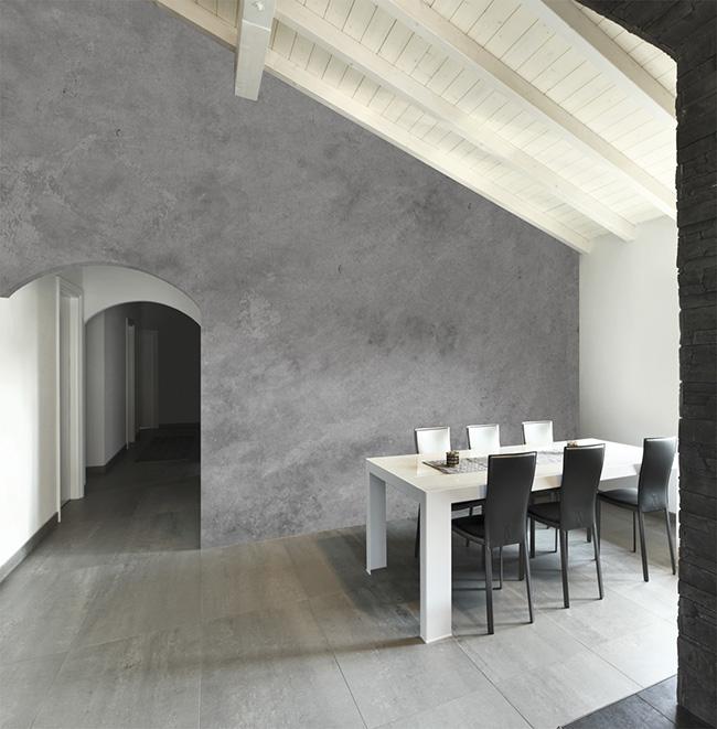 Papel pintado hormigón - Villalba Interiorismo