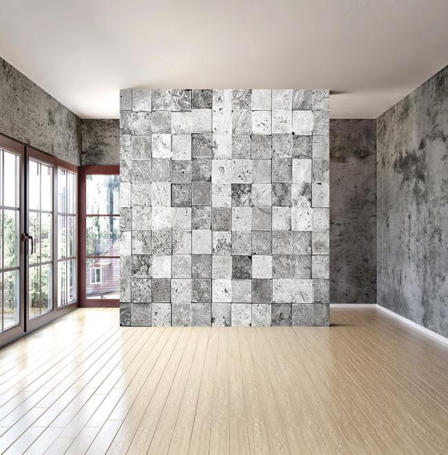Papel pintado piedra - Villalba Interiorismo