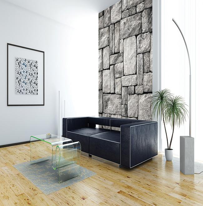 Papel pintado piedras naturales - Villalba Interiorismo (2)