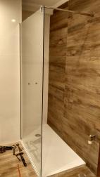 Mampara ducha 1 hoja cristal 90cm.
